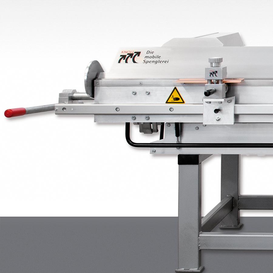 Die KNOLL Abkantmaschine – 180°– 3,5m auch stationär für Ihre Werkstatt erhältlich